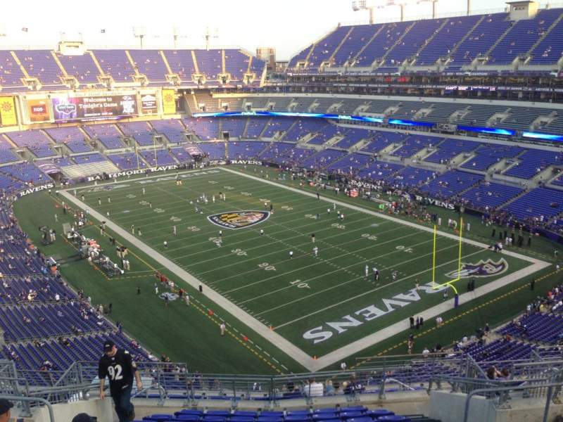 Seating view for M&T Bank Stadium Section 545 Row 7 Seat 5