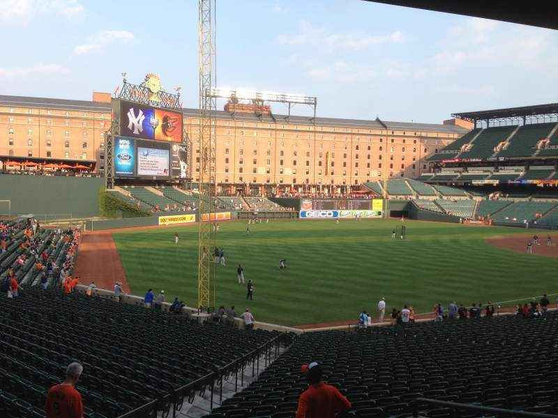Seating view for Oriole Park at Camden Yards Section 71 Row 5 Seat 3