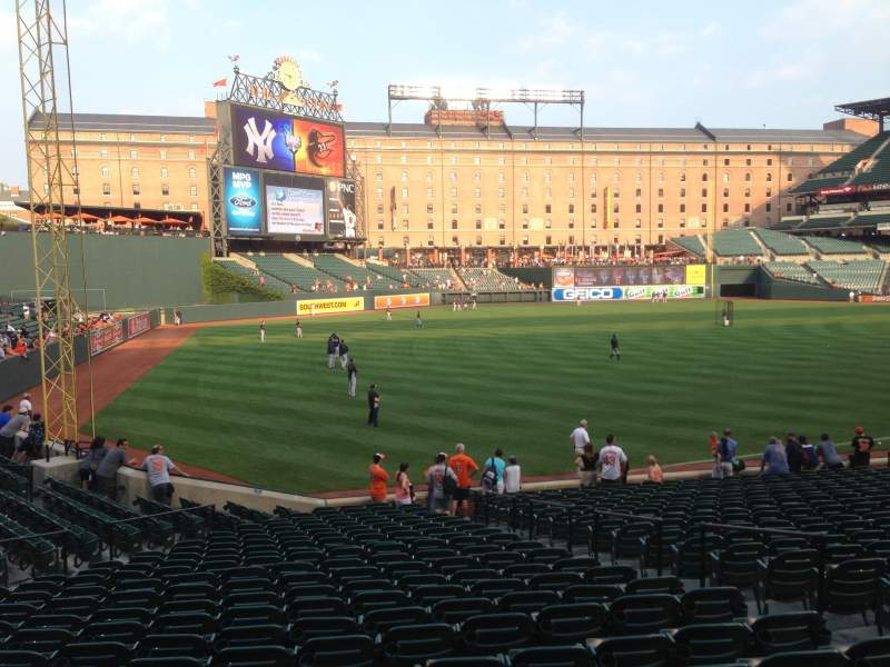 Seating view for Oriole Park at Camden Yards Section 70 Row 23 Seat 7