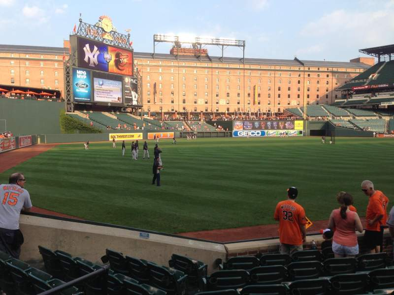 Seating view for Oriole Park at Camden Yards Section 70 Row 8 Seat 9