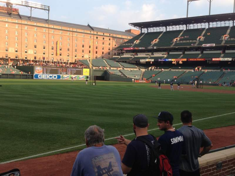 Seating view for Oriole Park at Camden Yards Section 68 Row 4 Seat 8