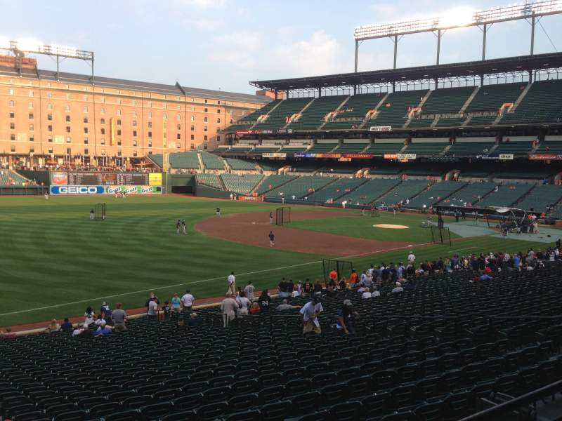 Seating view for Oriole Park at Camden Yards Section 65 Row 2 Seat 10