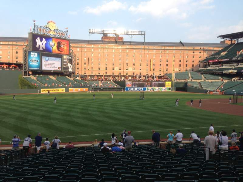 Seating view for Oriole Park at Camden Yards Section 64 Row 22 Seat 10