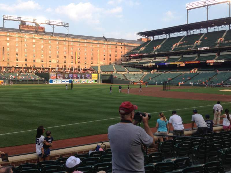 Seating view for Oriole Park at Camden Yards Section 64 Row 9 Seat 8