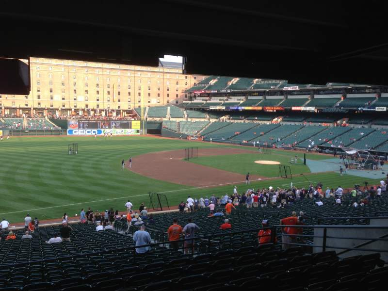 Seating view for Oriole Park at Camden Yards Section 64 Row 9 Seat 11