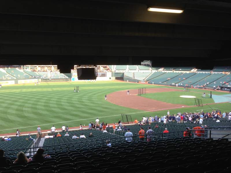 Seating view for Oriole Park at Camden Yards Section 61 Row 13 Seat 16