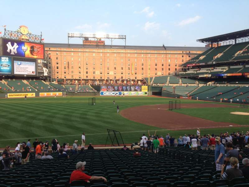 Seating view for Oriole Park at Camden Yards Section 60 Row 27 Seat 9