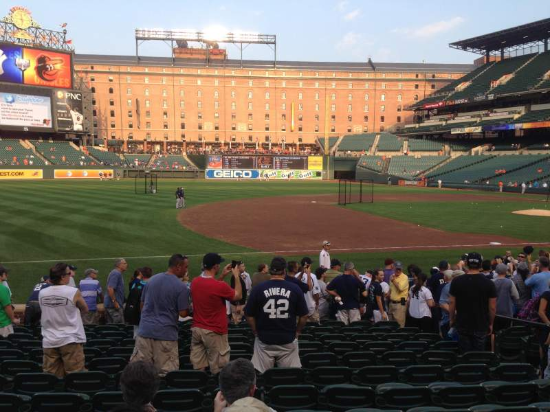 Seating view for Oriole Park at Camden Yards Section 58 Row 14 Seat 7
