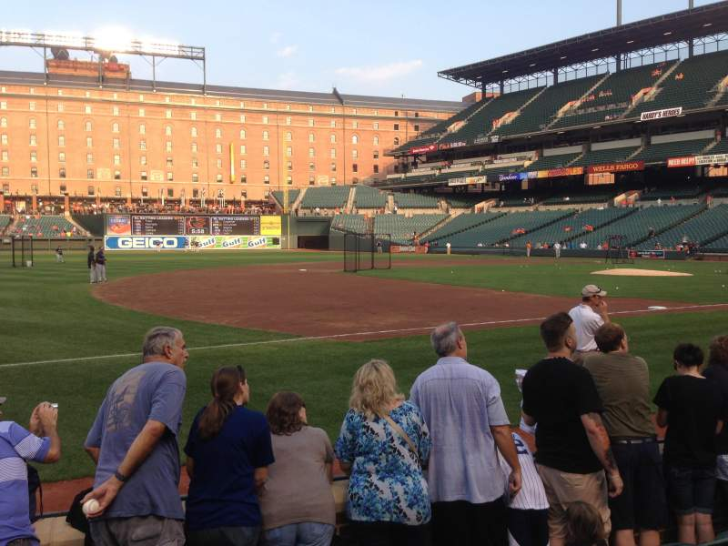 Seating view for Oriole Park at Camden Yards Section 58 Row 5 Seat 12