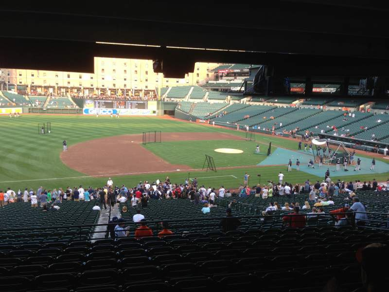 Seating view for Oriole Park at Camden Yards Section 55 Row 11 Seat 14