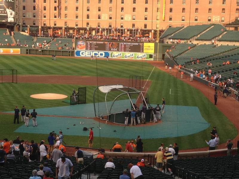 Seating view for Oriole Park at Camden Yards Section 45 Row 6 Seat 4