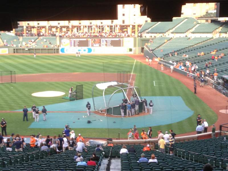 Oriole Park At Camden Yards Section 45 Row 12 Seat 9