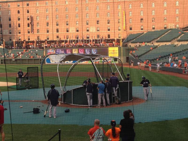 Seating view for Oriole Park at Camden Yards Section 44 Row 11 Seat 4