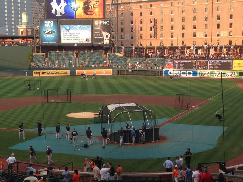 Seating view for Oriole Park at Camden Yards Section 39 Row 5 Seat 10