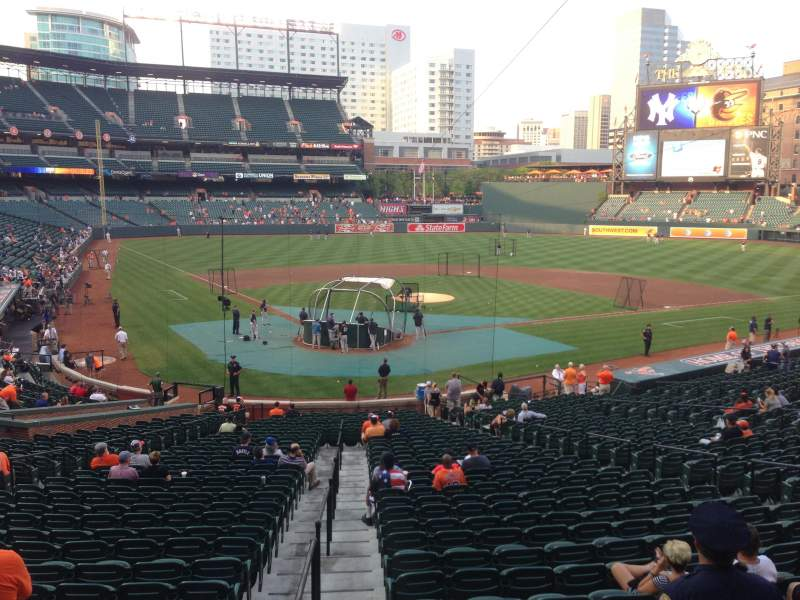 Seating view for Oriole Park at Camden Yards Section 33 Row 3 Seat 5