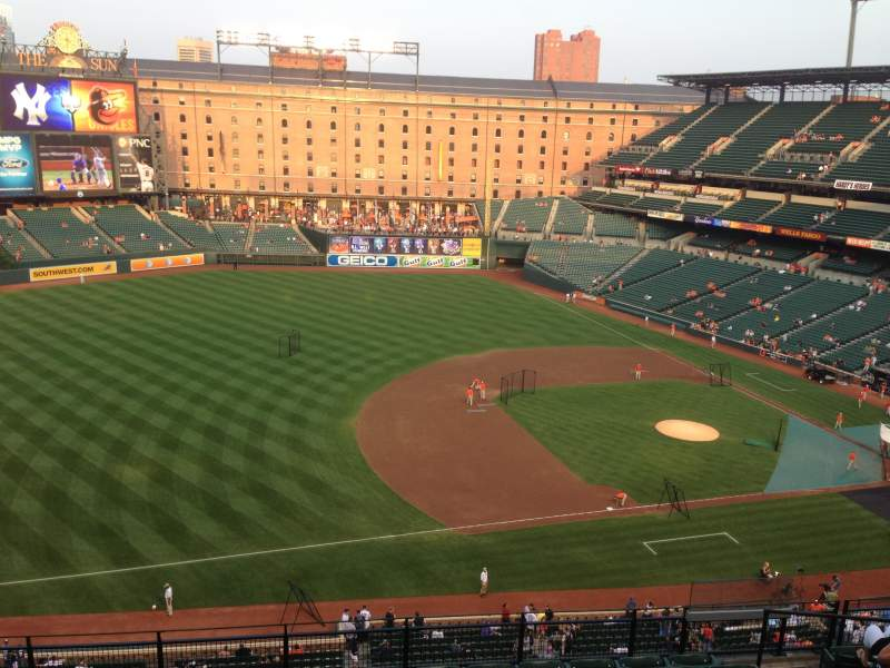 Seating view for Oriole Park at Camden Yards Section 360 Row 10 Seat 5