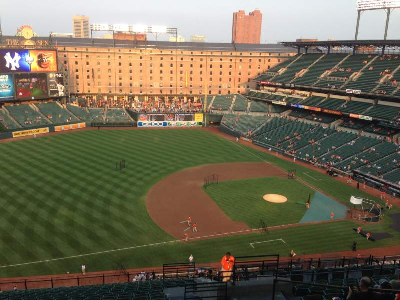 Seating view for Oriole Park at Camden Yards Section 360 Row 22 Seat 5