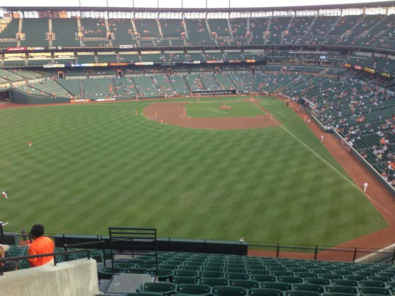 Seating view for Oriole Park at Camden Yards Section 384 Row 14 Seat 12