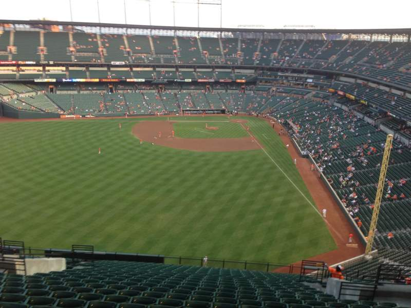 Seating view for Oriole Park at Camden Yards Section 384 Row 24 Seat 9
