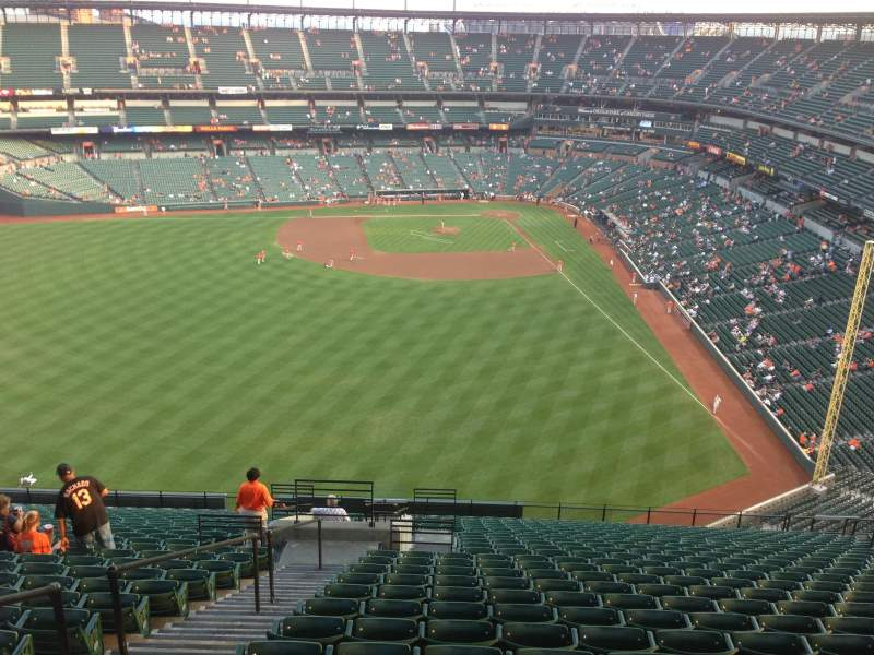 Seating view for Oriole Park at Camden Yards Section 384 Row 25 Seat 14