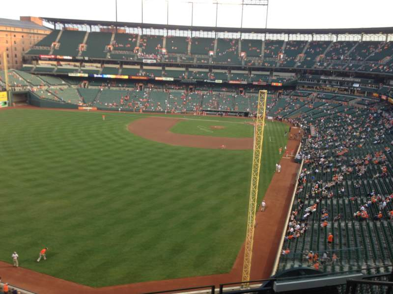 Seating view for Oriole Park at Camden Yards Section 380 Row 5 Seat 4