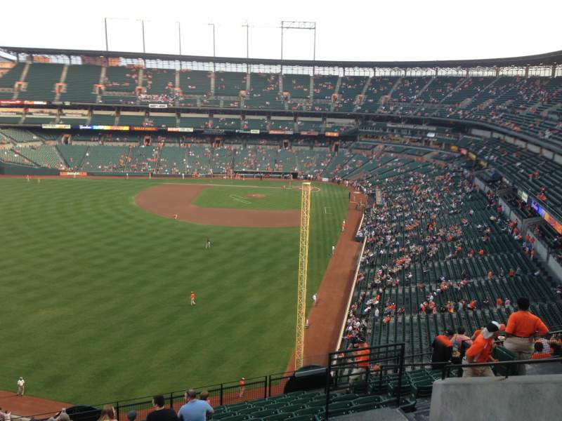 Seating view for Oriole Park at Camden Yards Section 380 Row 14 Seat 9