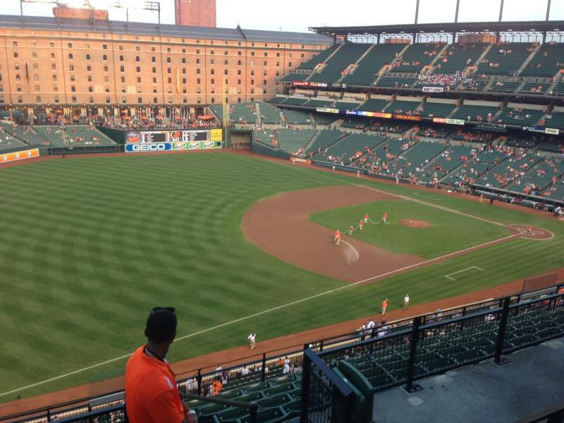 Seating view for Oriole Park at Camden Yards Section 364 Row 11 Seat 10