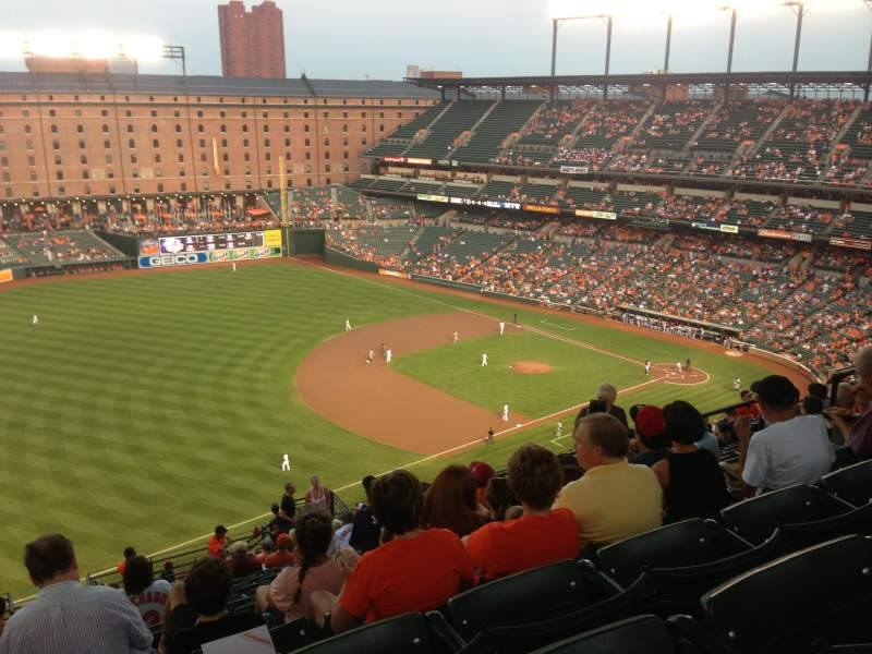 Seating view for Oriole Park at Camden Yards Section 364 Row 25 Seat 10