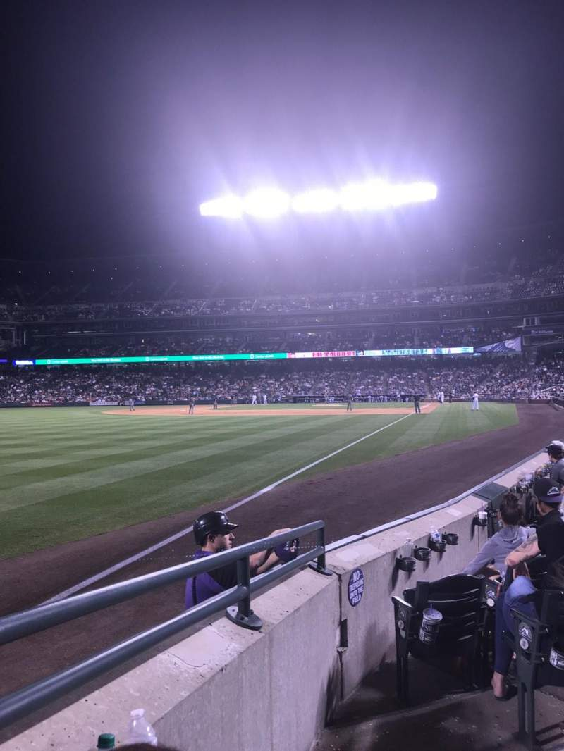 Coors Field, section: 149, row: 6, seat: 4