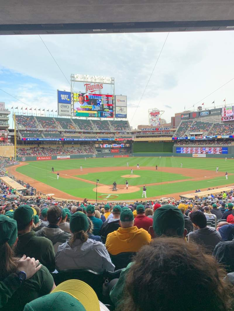 Seating view for Target Field Section 113 Row 22 Seat 5