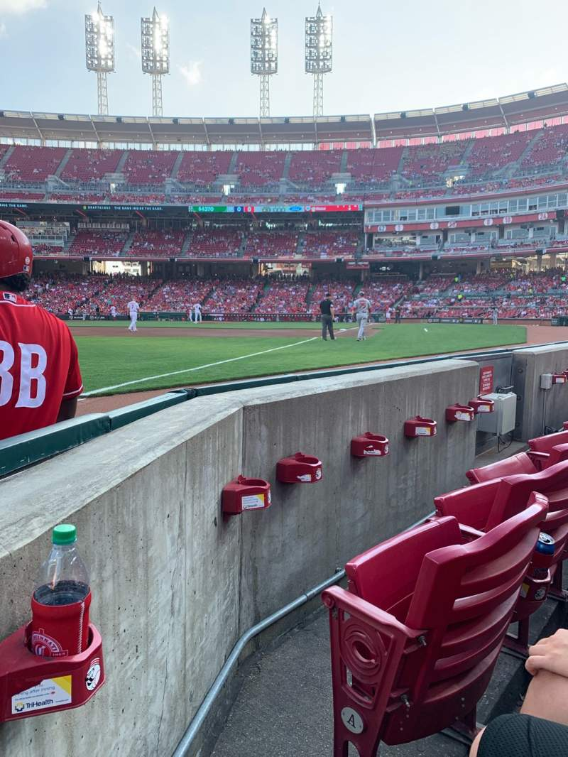 Seating view for Great American Ball Park Section 111 Row B Seat 8