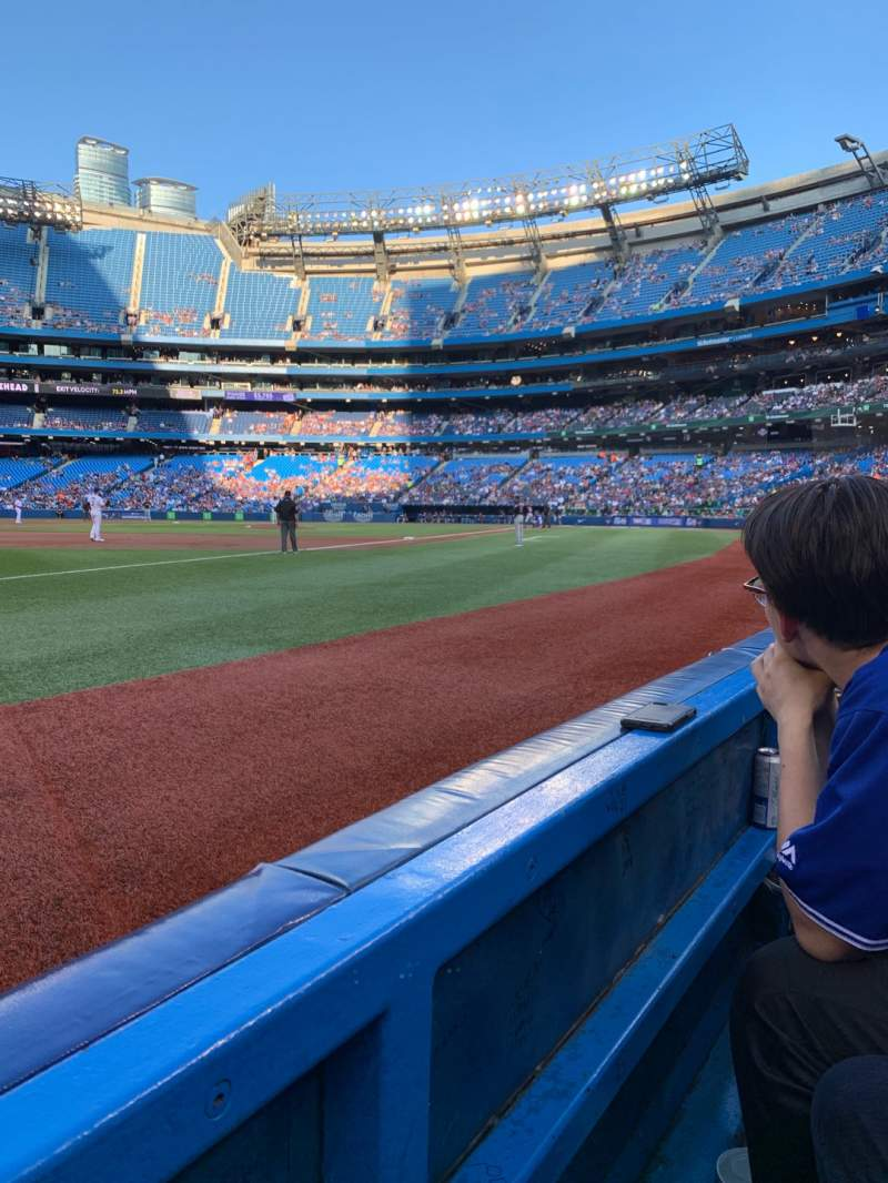 Seating view for Rogers Centre Section 130BR Row 1 Seat 11