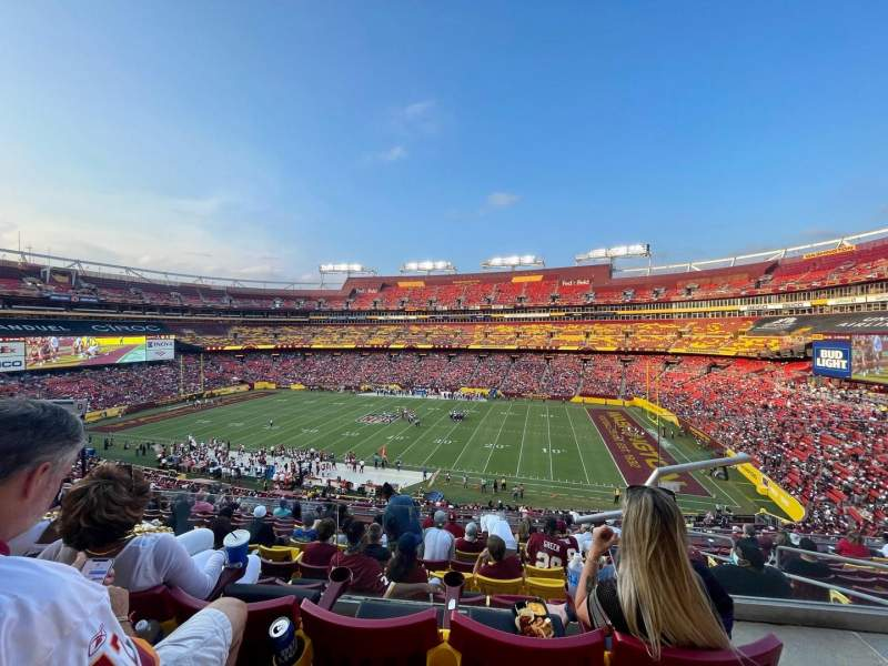 Seating view for FedEx Field Section 340 Row 12 Seat 5