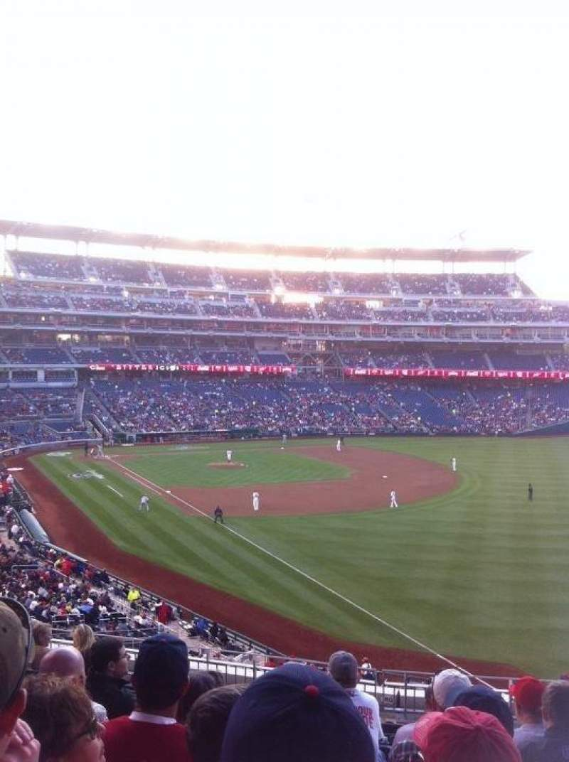 Seating view for Nationals Park Section 231 Row J Seat 10