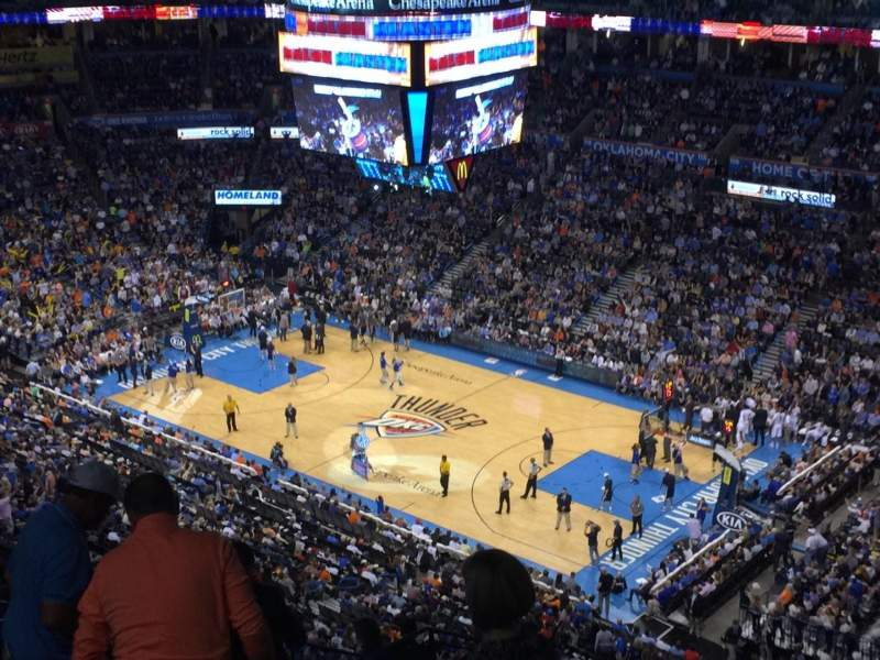 Seating view for Chesapeake Energy Arena Section 305 Row P Seat 18-21