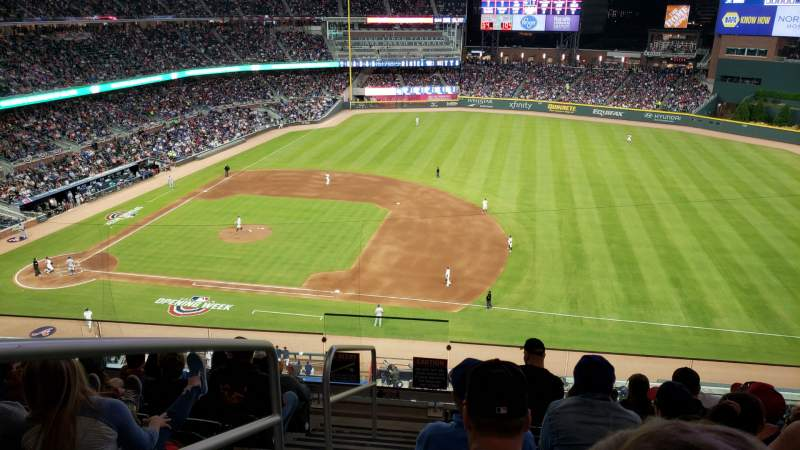 Seating view for Truist Park Section 317 Row 7 Seat 23