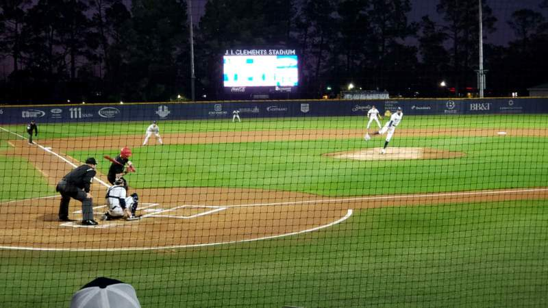 Seating view for J. I. Clements Stadium Section 105 Row G Seat 14-15