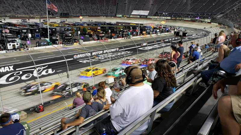 Seating view for Bristol Motor Speedway Section (A-K) Allison K Row 13 Seat 12