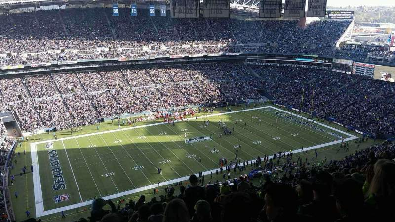 Seating view for CenturyLink Field Section 339 Row KK Seat 13