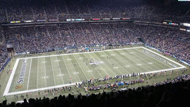 Seating view for CenturyLink Field Section 338 Row GG Seat 3
