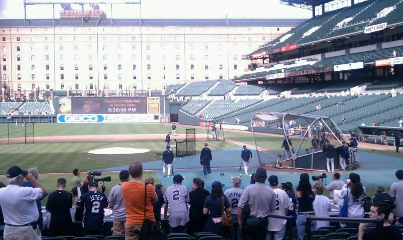 Seating view for Oriole Park at Camden Yards Section 50 Row 11 Seat 2