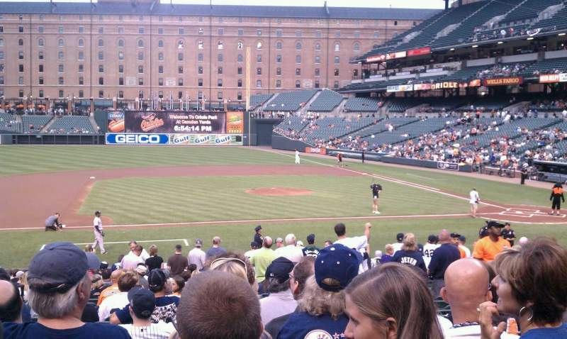 Seating view for Oriole Park at Camden Yards Section 52 Row 20 Seat 7