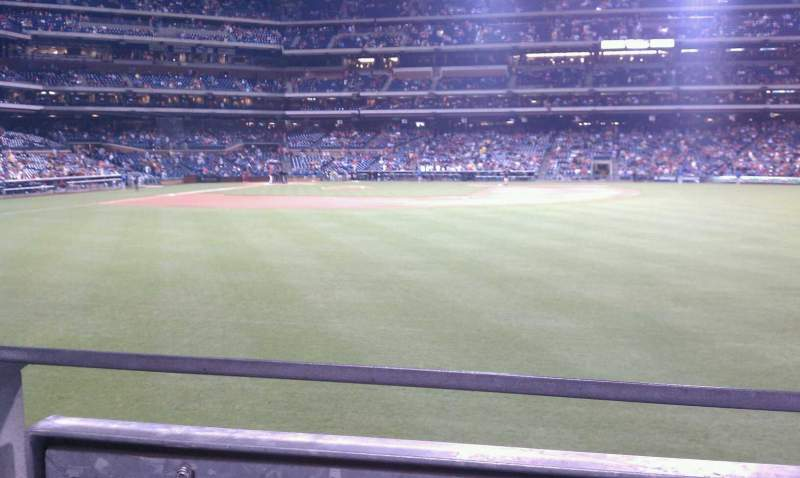 Seating view for Citizens Bank Park Section 103 Row 1 Seat 16