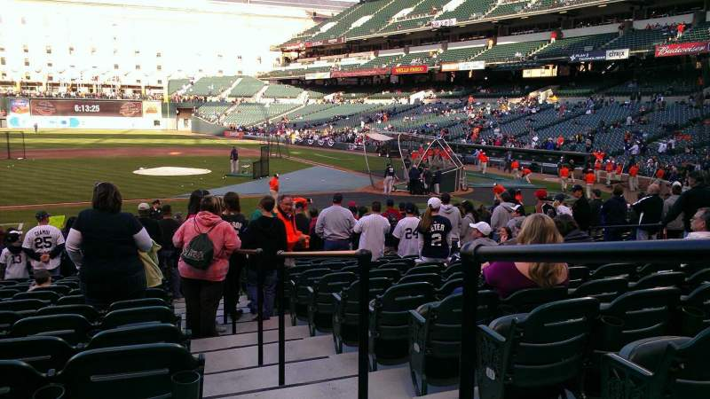 Seating view for Oriole Park at Camden Yards Section 52 Row 16 Seat 1