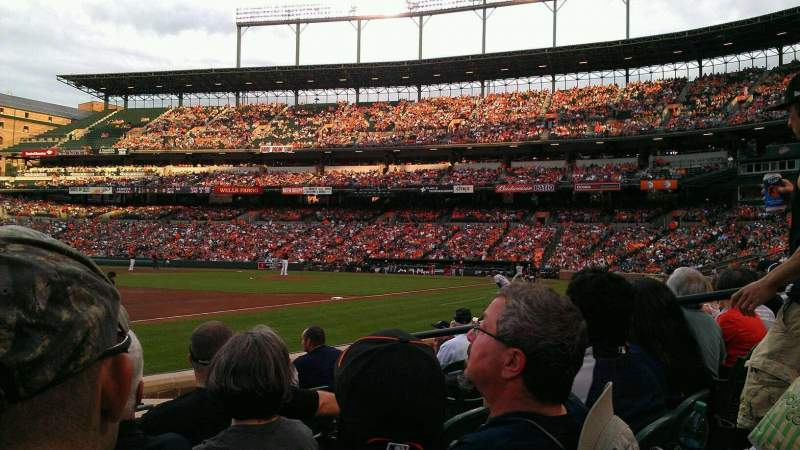 Seating view for Oriole Park at Camden Yards Section 60 Row 4 Seat 6