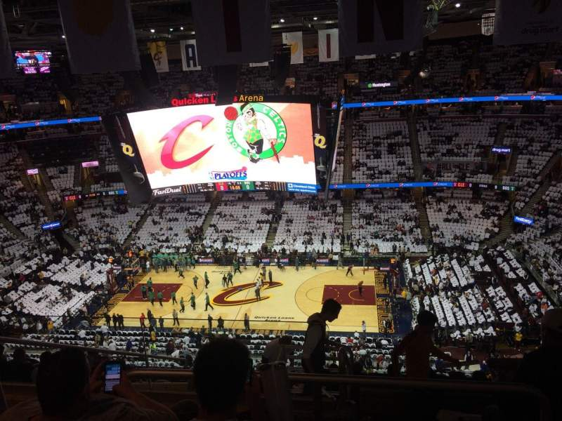 Seating view for Quicken Loans Arena Section 210 Row 12 Seat 4