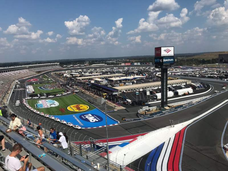 Seating view for Charlotte Motor Speedway Section Ford UT A Row 54 Seat 9