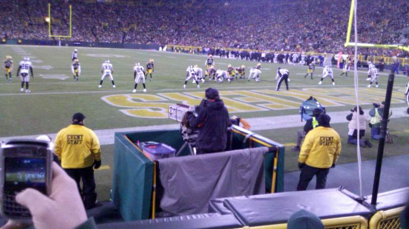 Seating view for Lambeau Field Section 136 Row 4 Seat 14