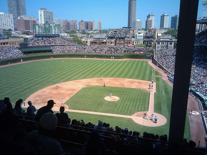 Seating view for Wrigley Field Section 414L Row 5 Seat 1