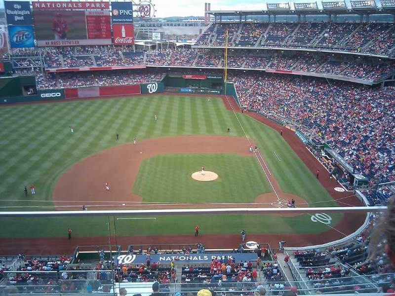 Seating view for Nationals Park Section 408 Row B Seat 5